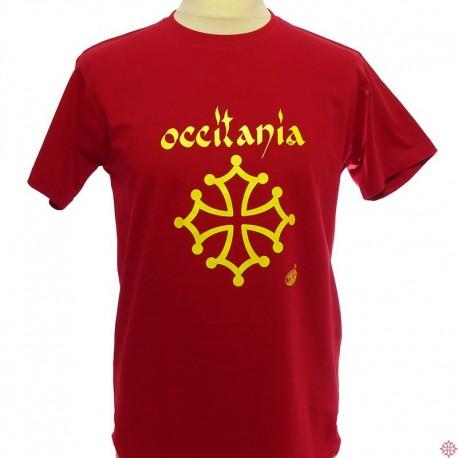 T-shirt homme croix occitanie, occitania Calligraphie