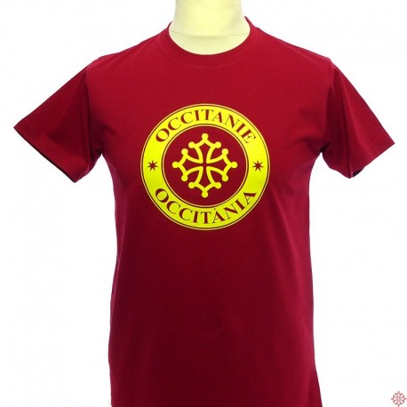 T-shirt homme Occitanie tampon rouge