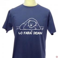 T-shirt humoristique ours je le ferai demain lo farai deman