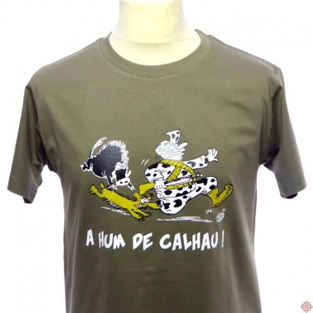 T-shirt gascon humoristique A hum de calhau ! à fond la caisse