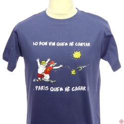 T-shirt humoristique occitan paris me fais chier