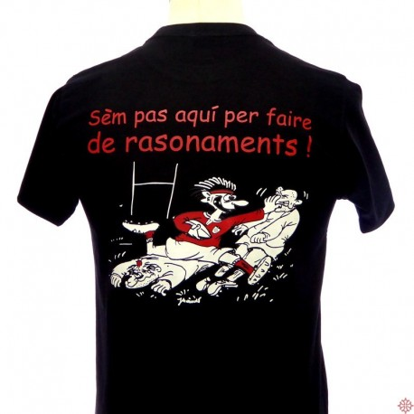 T-shirt humour rugby Rasonaments occitan