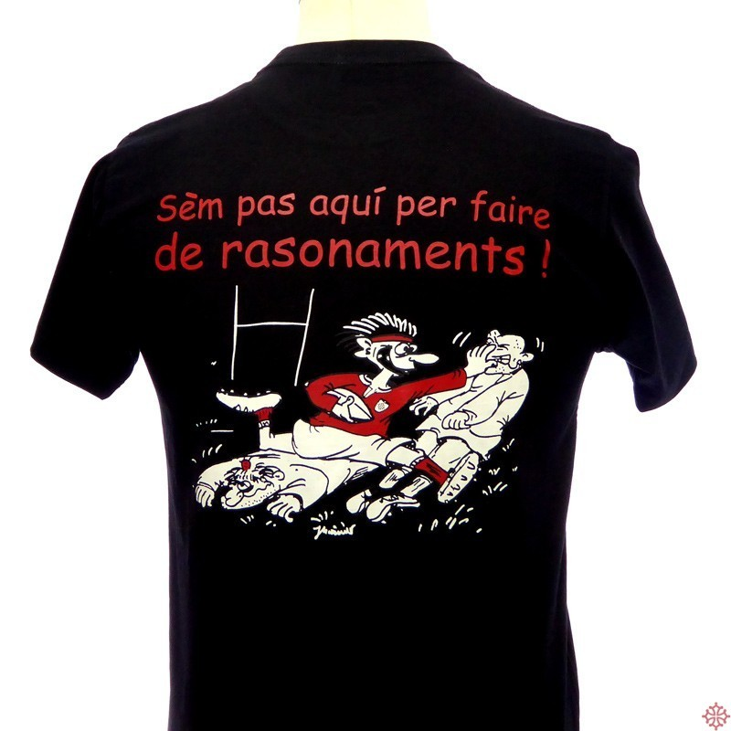 T-shirt occitan humoristique rugby Rasonaments