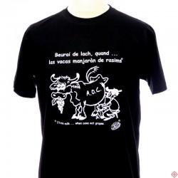 T-shirt homme occitan humoristique Vaca