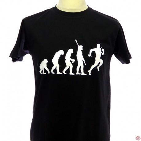 T-shirt humoristique occitan Évolution rugby
