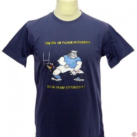 T-shirt humoristique Pichon desgordit en occitan