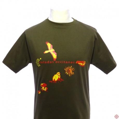 T-shirt homme en occitan Valadas Occitanas Occitanie Croix occitane