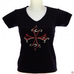 T-shirt femme Tribal noir