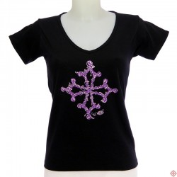 T-shirt Femme croix occitane stylisée BarÒc
