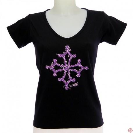 T-shirt femme croix occitane BarÒc - occitanie