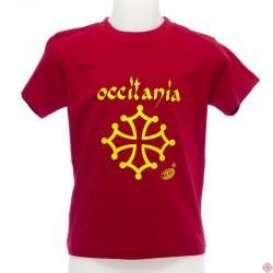 T-shirt enfant Calligraphie Occitanie  Croix Occitane