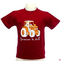 T-shirt enfant  en occitan  Tracteur croix occitane