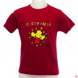 T-shirt enfant humour occitan croix occitane Venzac