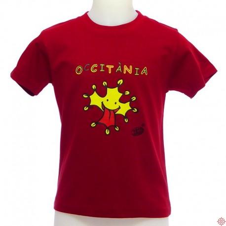 T-shirt occitanie enfant Venzac occitània - croix occitane