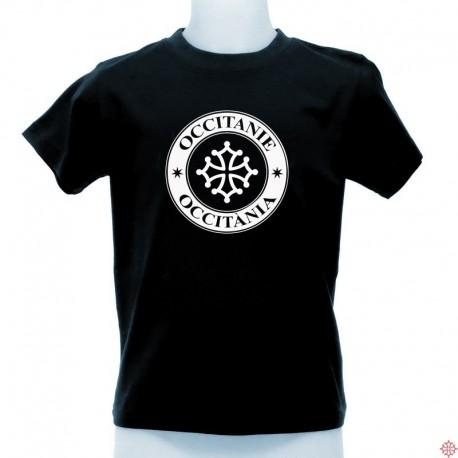 T-shirt enfant Occitània tampon noir Occitanie - croix occitane