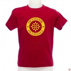 T-shirt enfant Occitània tampon rouge