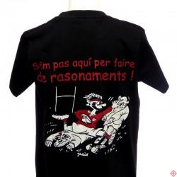 T-shirt enfant humour occitan rugby Rasonaments