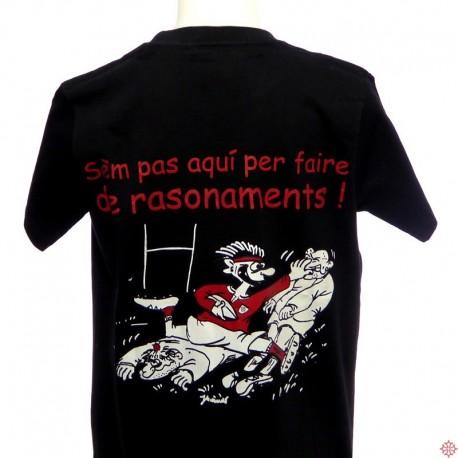T-shirt occitanie humoristique occitan enfant Rasonaments