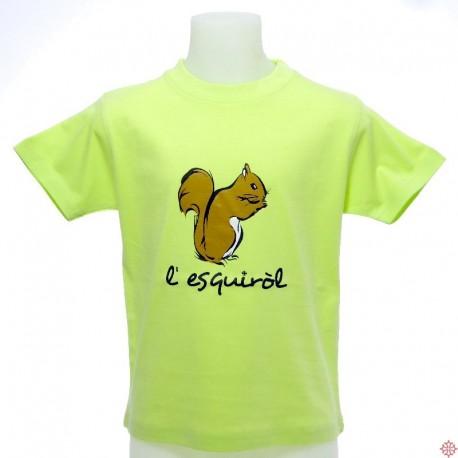 T-shirt enfant Esquiròl écureuil en occitan