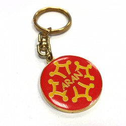 Porte-clefs métal rond Aran