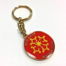 Porte-clefs métal rond Valadas Occitanas