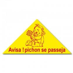 Autocollant triangle Pichon se passeja