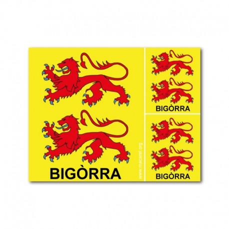Lot de 3 autocollants Bigòrra
