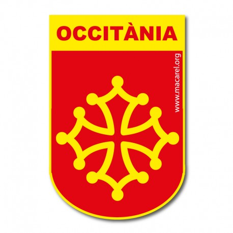 Autocollant écusson occitanie Blason Occitània croix occitane
