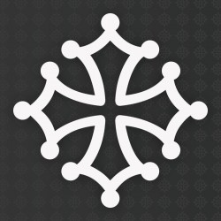 Sticker croix occitane 5 cm
