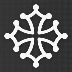 Sticker croix occitane 10 cm