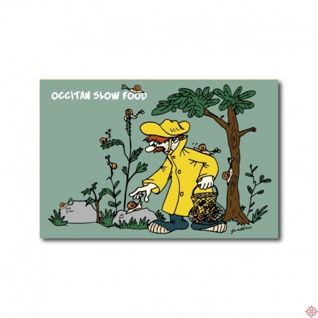 Carte postale Occitan slow food - Escargots