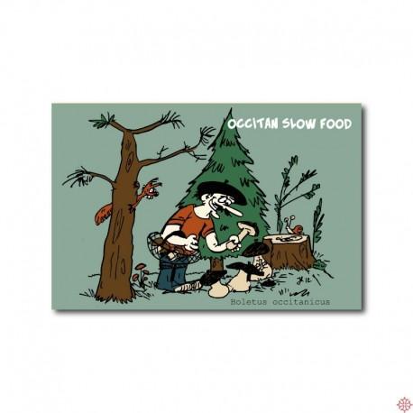 Carte postale Occitan slow food - Champignons
