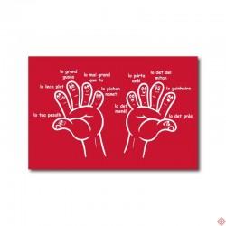 Carte postale les doigts de la main