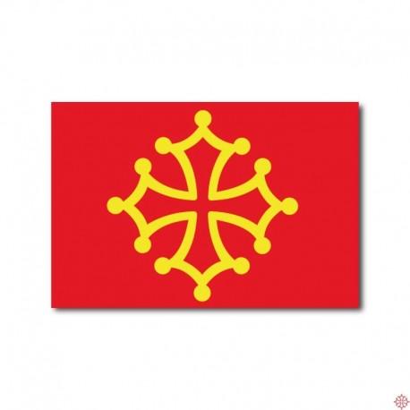 Carte postale Drapeau occitan