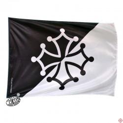 drapeau supporter noir et blanc