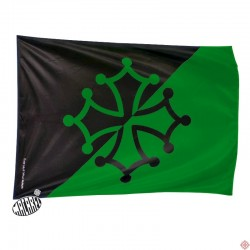 drapeau supporter noir et vert