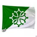 drapeau supporter vert et blanc
