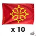 lot 10 drapeaux croix occitane 80x120