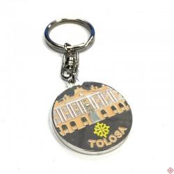 Porte-clés métal rond Toulouse Capitole