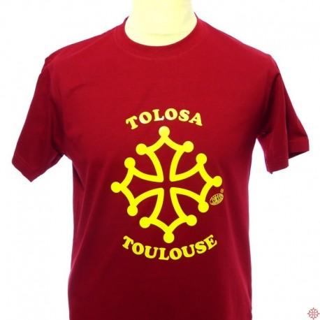 T-shirt homme Toulouse croix occitane tolosa