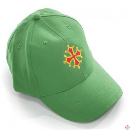 Casquette américaine croix occitane vert golf