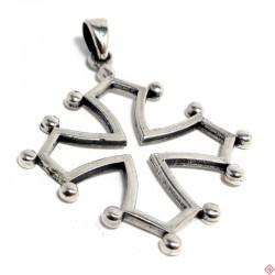 Pendentif argent croix occitane 2,5 cm
