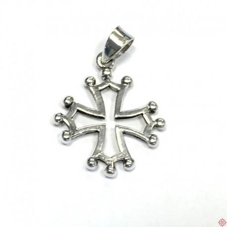 Pendentif argent croix occitane 1,5 cm