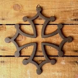 Croix occitane en fonte à suspendre 12 cm
