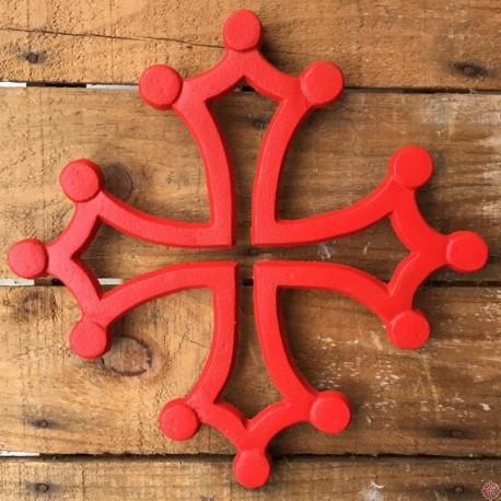 Dessous de plat croix occitane rouge
