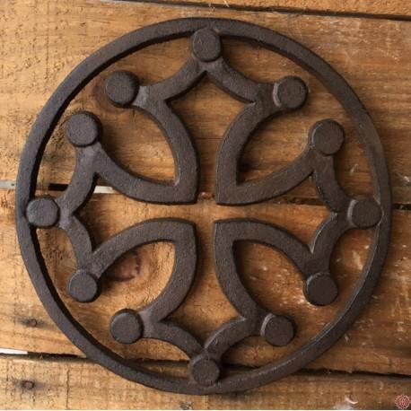 Dessous de plat croix occitane cerclé