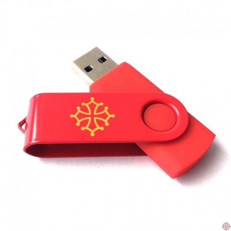 Clé USB croix occitane