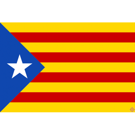 drapeau catalan independantiste l'estelada