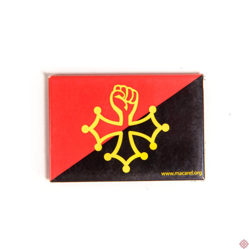 Magnet Croix Occitane Au Poing Lev