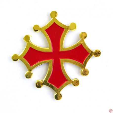 magnet métal croix occitane